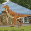 Dinosoaur stalking the Visitor Center, Milk River, Alberta