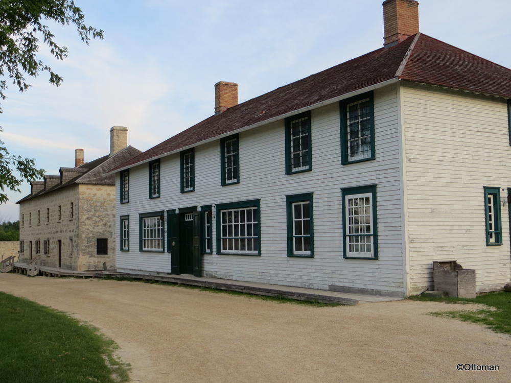 Lower Fort Garry National Historic Site, Manitoba, Canada.  One of the buildings inside the fort complex