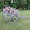 Lower Fort Garry National Historic Site, Manitoba, Canada.  Red River Cart