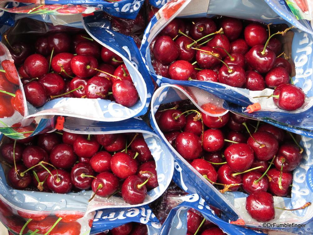 Fresh Bing Cherries are in season!  Toronto corner market