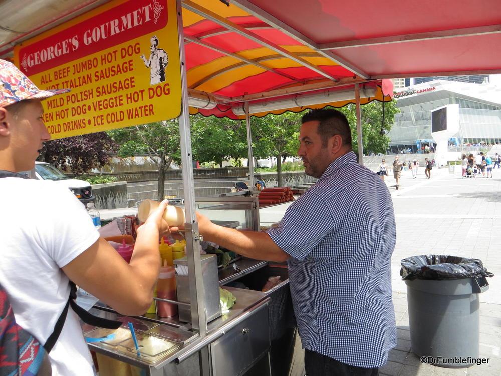 Toronto Street Food.  George's Hot Dog stand.