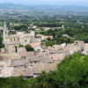 Bonnieux, France, in the Luberon. View from above town
