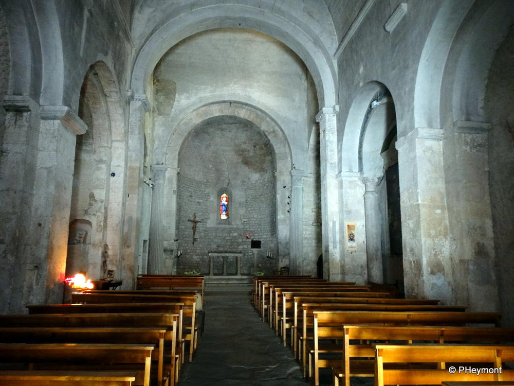 11th-century church of Saint-Evran in Fontaine-de-Vaucluse, France