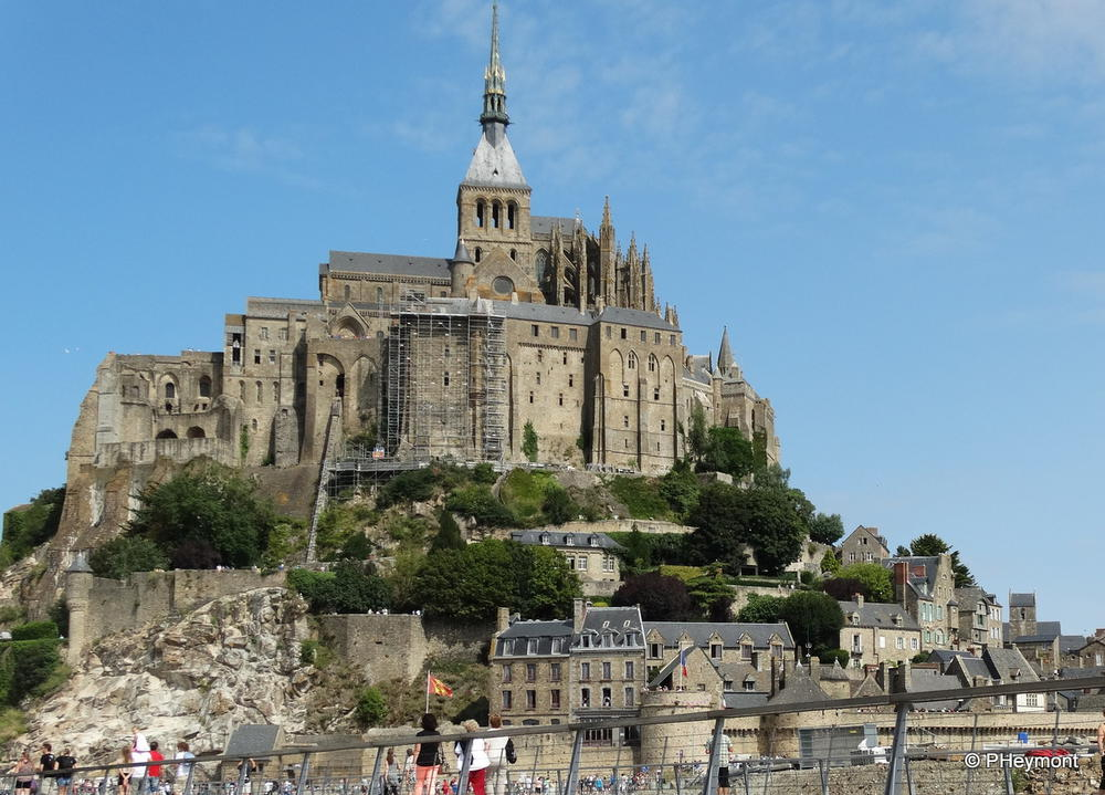 Mont-Saint-Michel from the bridge to the mainland