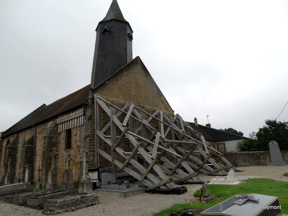 11th century church of St. Martin in Armentieres-sur-Avre, Normandy...in need of repair