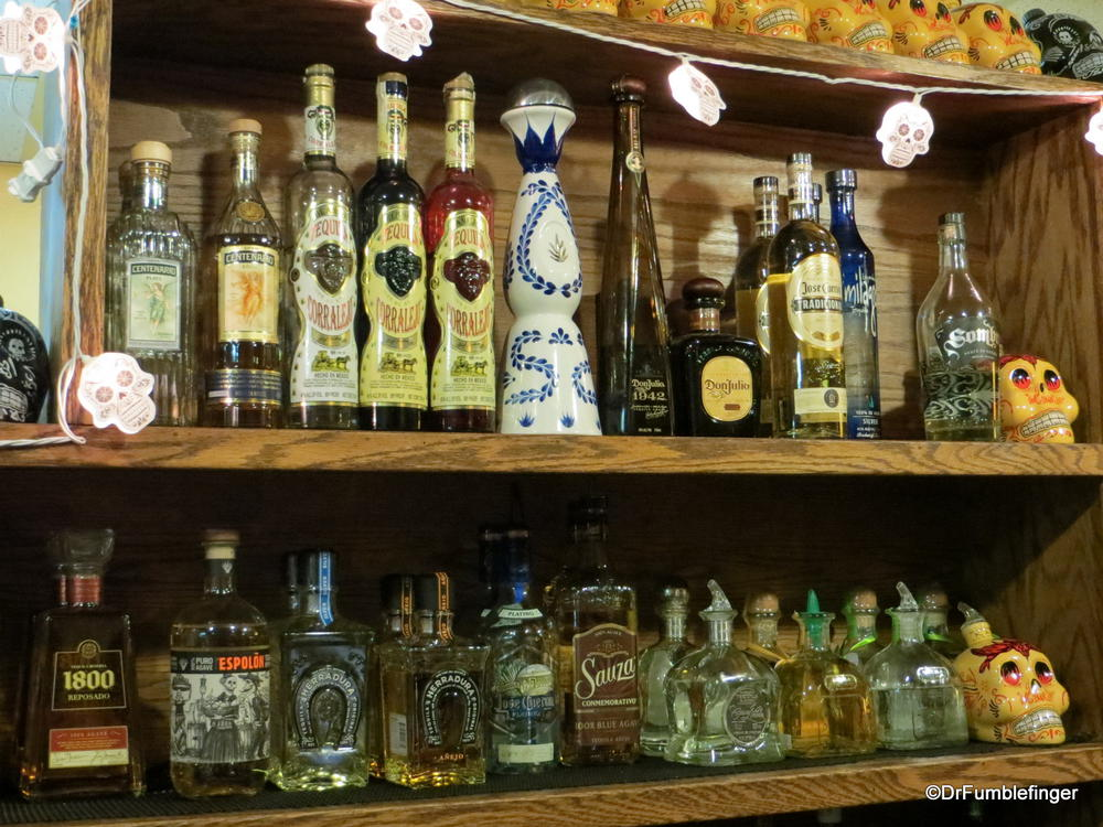 An interesting collection of tequilas at Efrains II, Boulder, Colorado