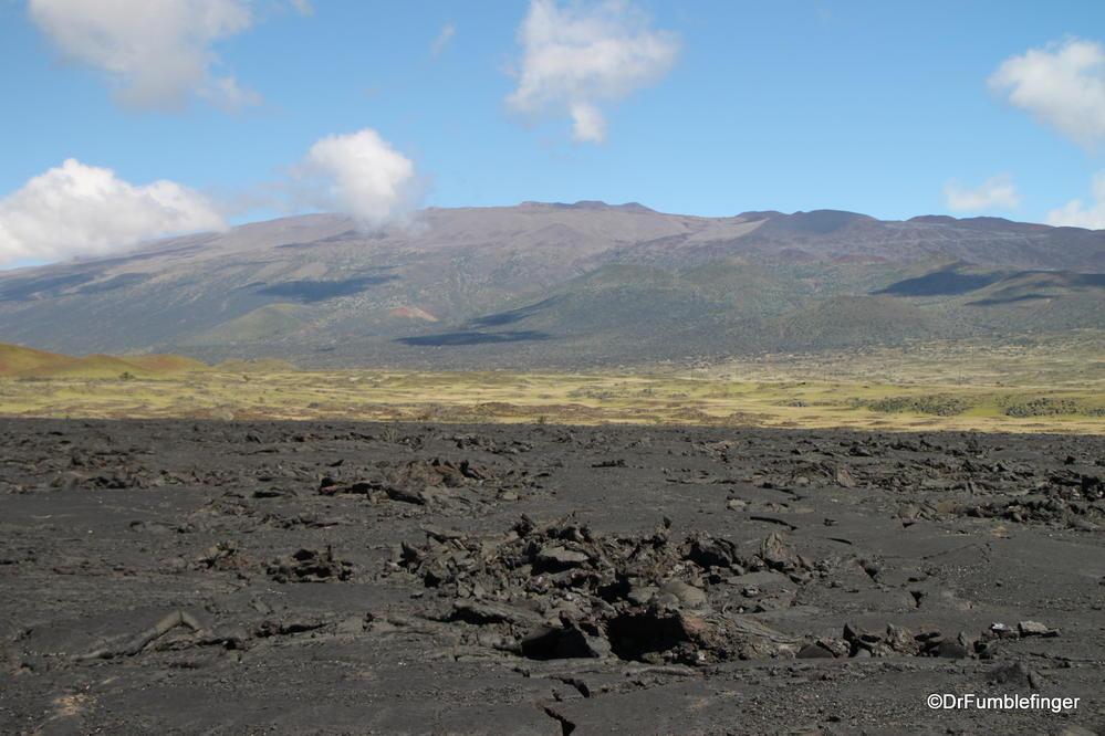Mauna Kea's summit, viewed from Saddle Road, Big Island of Hawaii