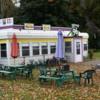Tiny retro diner on Route 96, Owego, New York