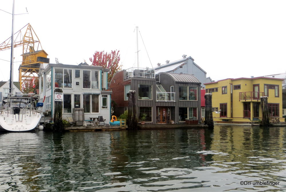 Floating Homes Burrard Inlet Vancouver British Columbia