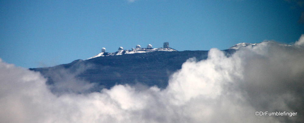 The astronomy observatories on Mauna Kea, Big Island of Hawaii