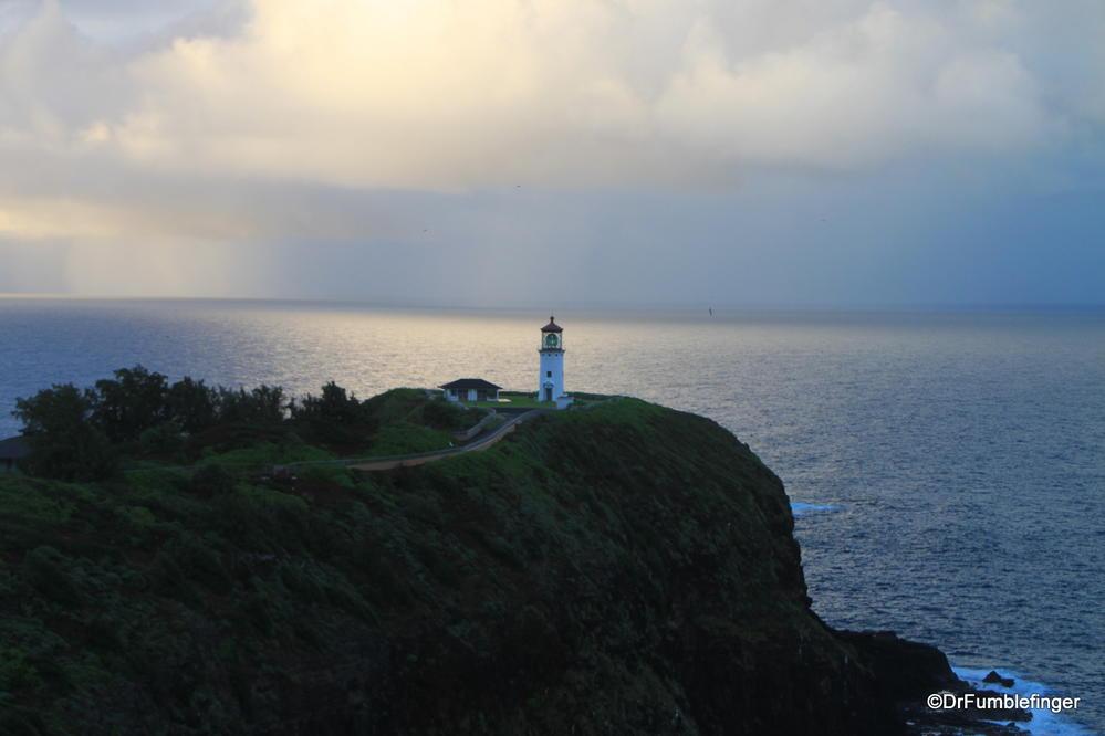 Sunset over the Kilauea Lighthouse, Kauai, Hawaii
