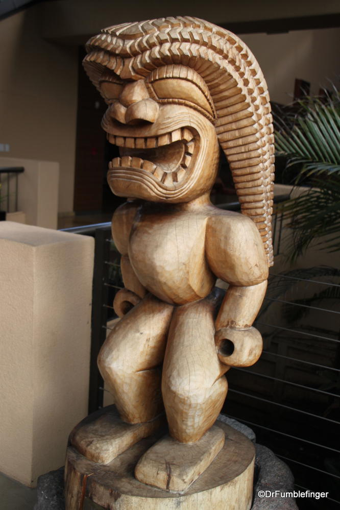 Some traditional Hawaiian style carvings, Kauai, Hawaii
