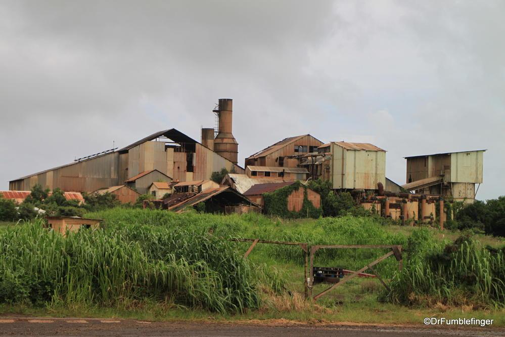 Long closed, the ruins of an old sugar mill, Po'ipu, Kauai
