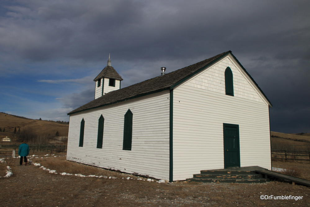 McDougall Memorial Church -- built on an Indian reservation many years ago, now a historic site