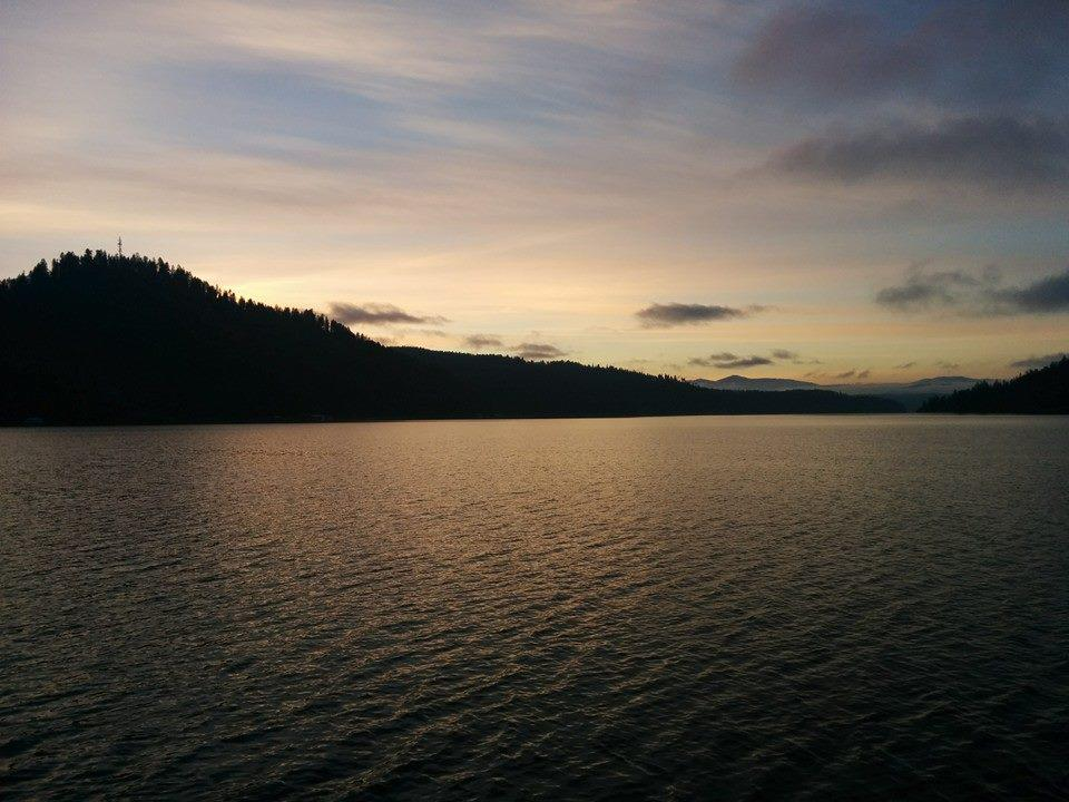 Evening at late Coeur d'Alene