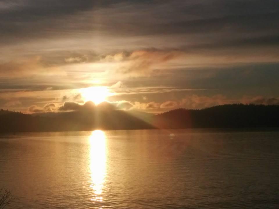 Lake Coeur d'Alene late afternoon sun