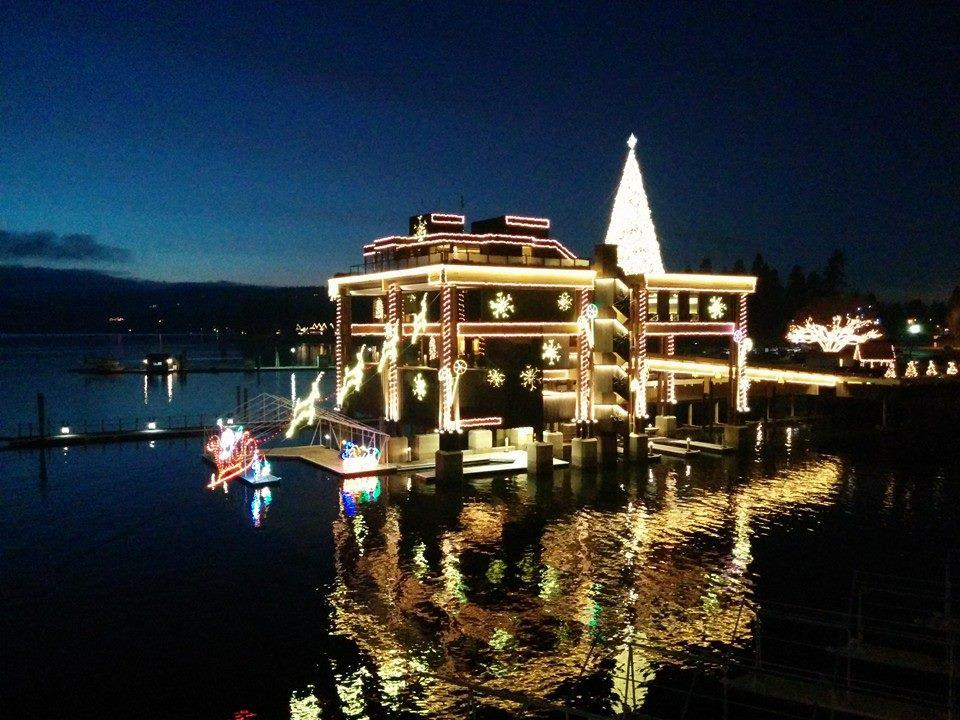 Christmas lights at the Coeur d'Alene Resort