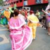 Street dancers, New Years Eve in San Juan