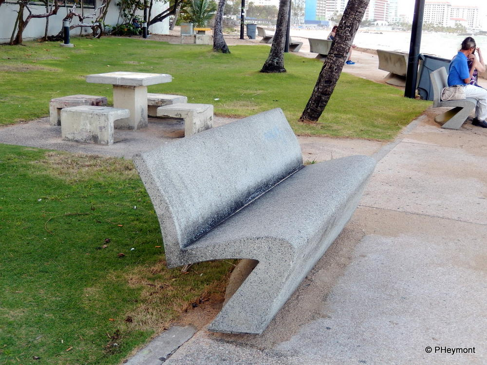 All-in-one benches and picnic furniture, Condado Beach