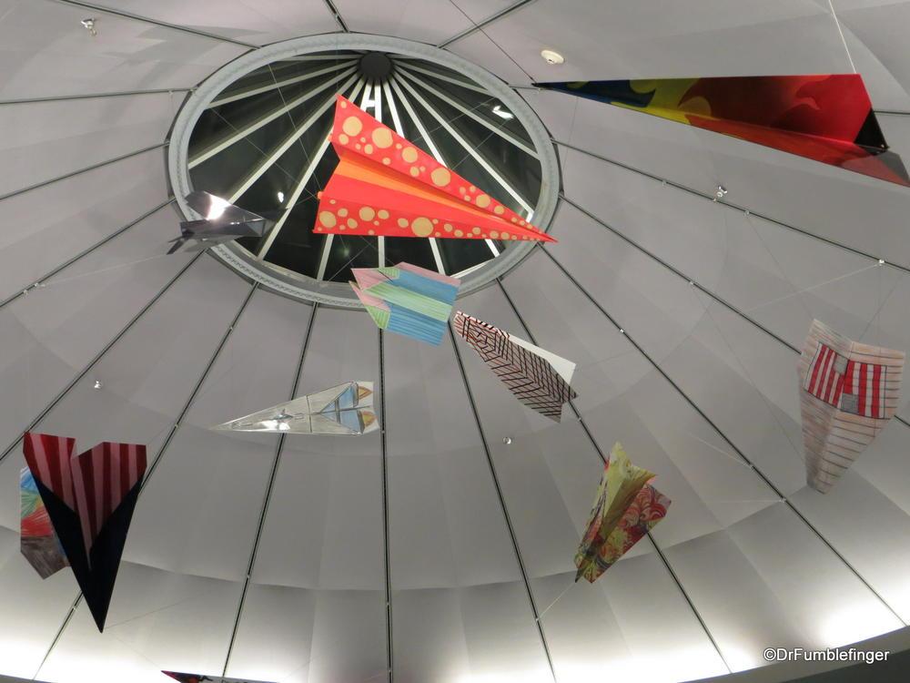 Massive paper planes (2 meters long) at McCarran airport, Las Vegas
