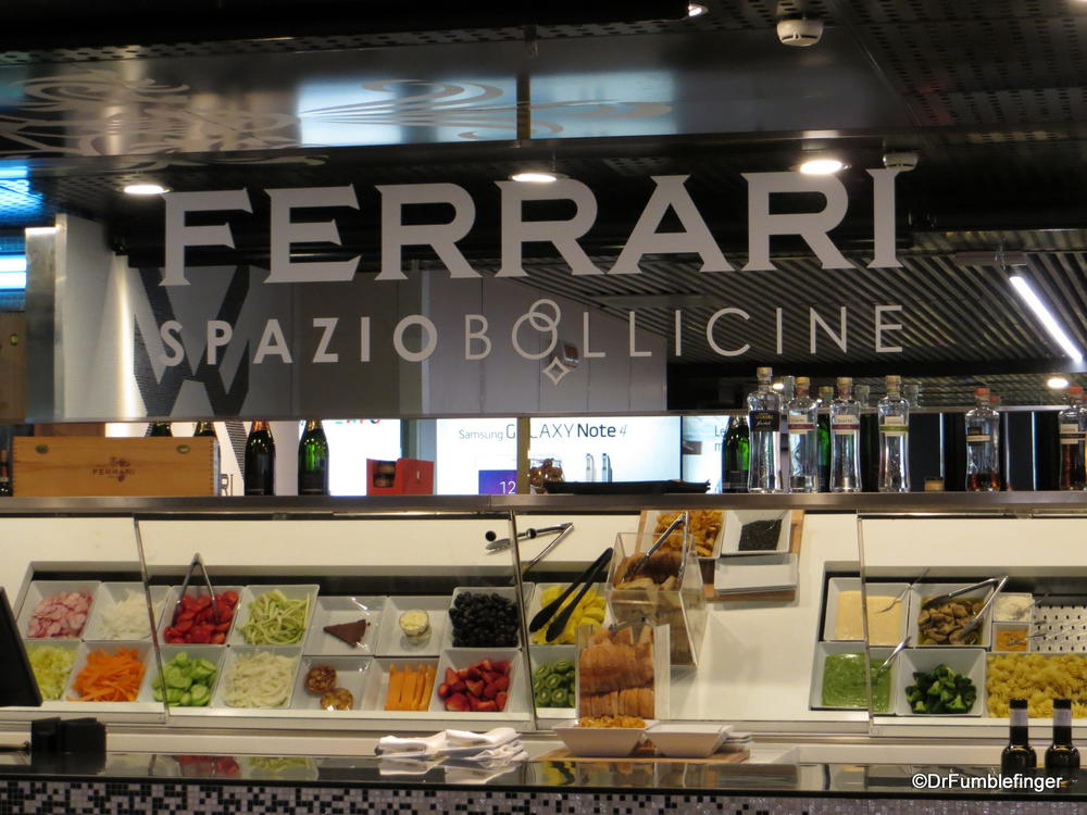 A snack bar at FCO airport.  Welcome to Italy