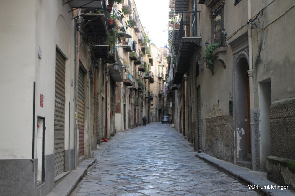 A narrow lane (one of many) in Palermo, Sicily