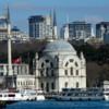 Along the European side of the Bosphorus