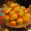 Fresh fruit?  Hardly!!  It's marzipan, crafted to look like fruit.  A tradiitonal Sicilian treat