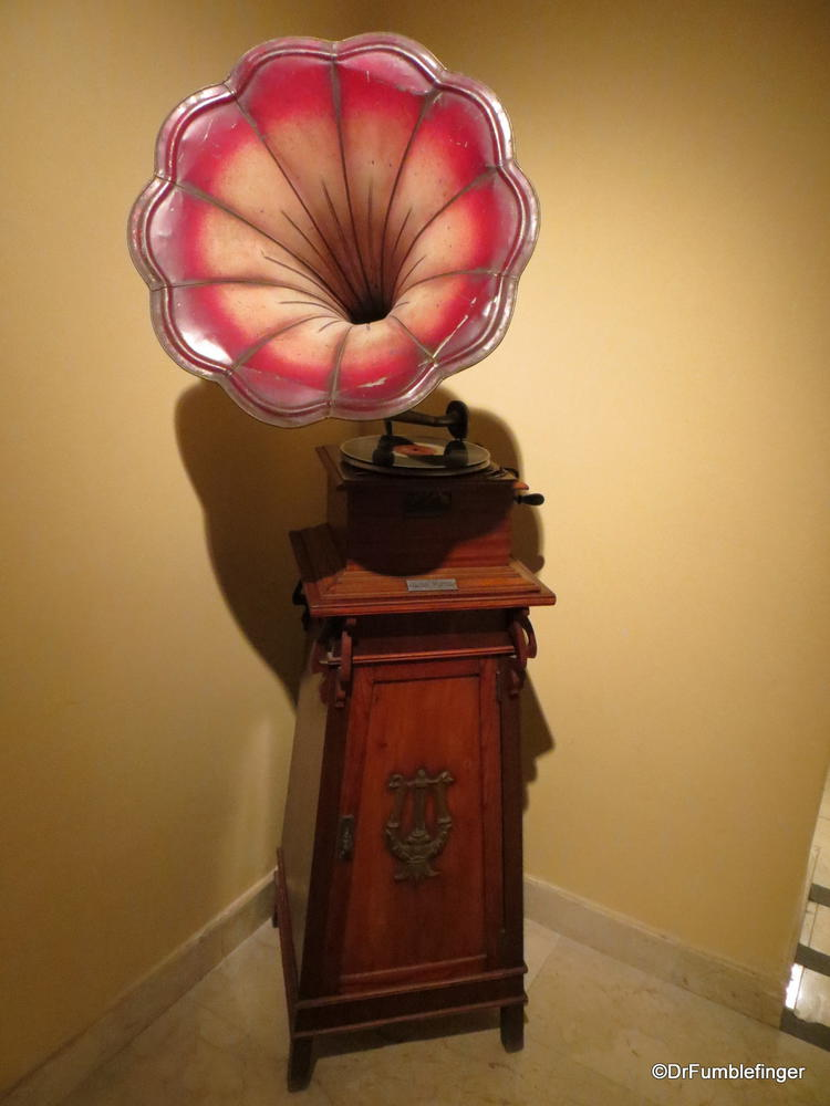 An unusual phonograph, from a display of musical devices in Bellini's boyhood home, Catania