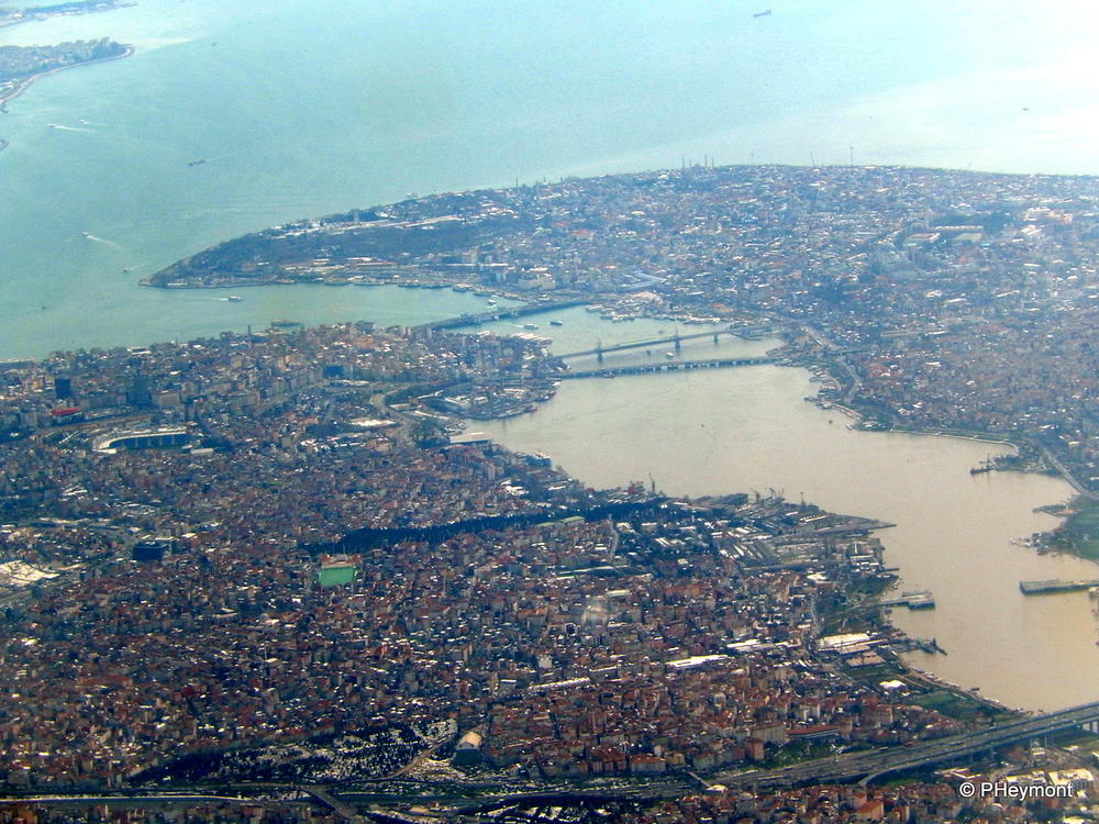 The heart of Istanbul, from the air