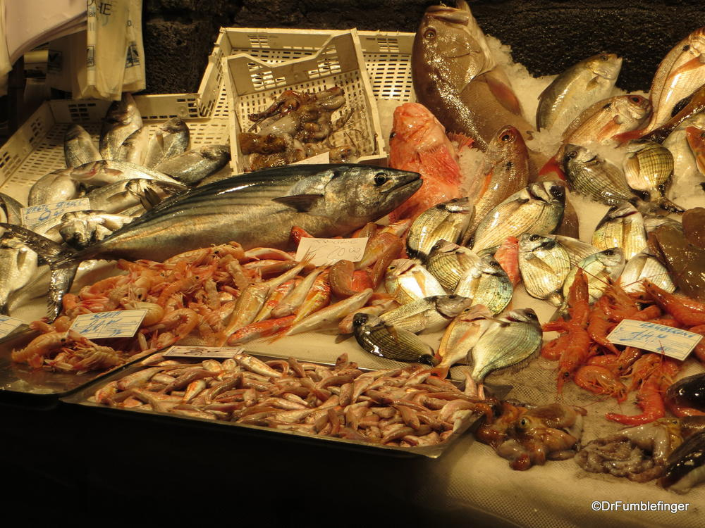 The fish market in Catania is absolutely amazing!