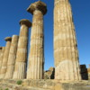 Temple of Hercules, Agrigento.  One of the larger Greek temples on the site, only partially restored