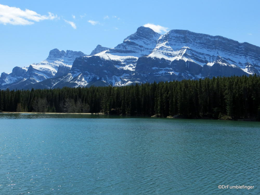 Mt Rundle, viewed from Johnson Lake, Banff National Park