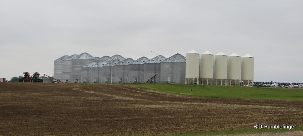 Massive storage bins hold the bounty of the prairies