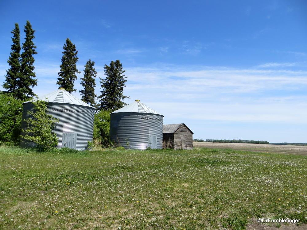 Prairie farm, Swan Valley, Manitoba.  A quarter my uncle farmed for decades