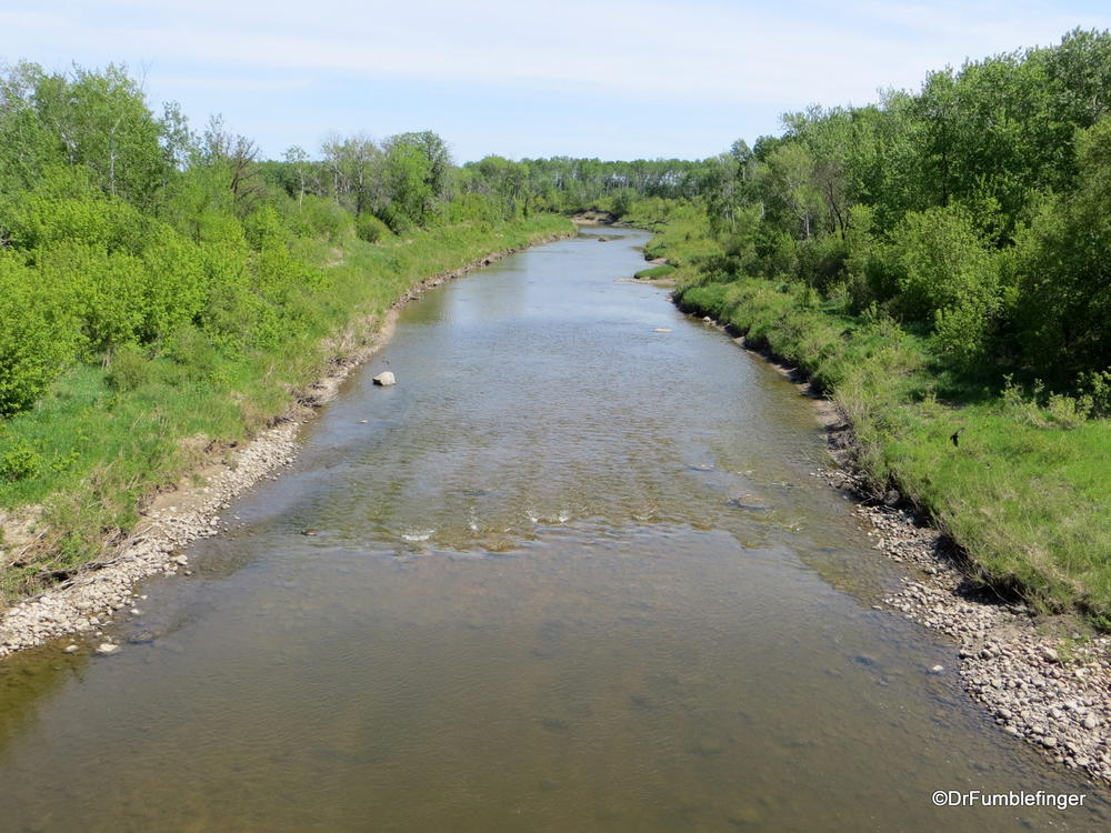 The Swan River, west central Manitoba