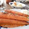 Roast Carrots with Mustard  Ice Cream