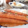 Roast Carrots with Mustard  Ice Cream