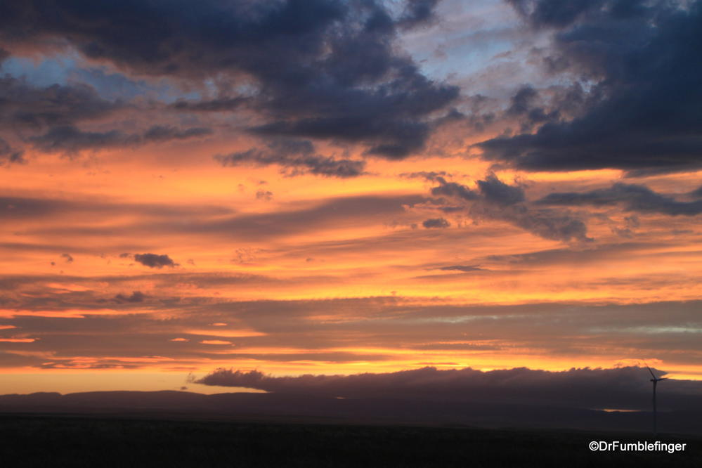 Montana sunset.  A colorful evening on the plains.