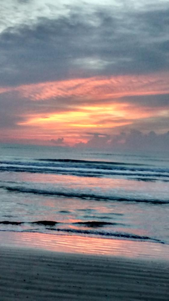 St. Augustine Fl Beach Sunrise - The Morning After