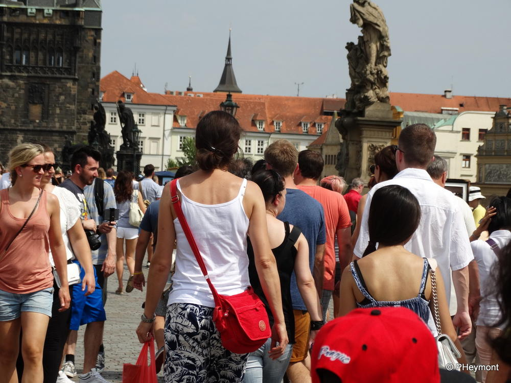 Crowded July in Prague