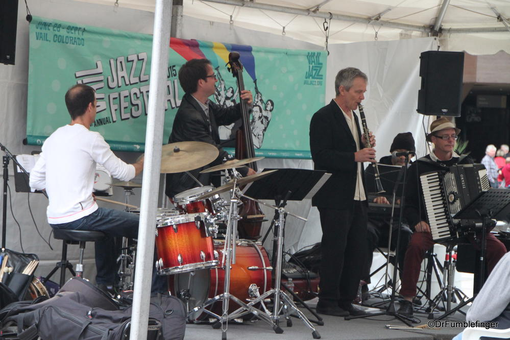 Jazz Band performing at Vail's Farmers Market, Colorado