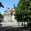 Berlin's Reichstag Building seen from Tiergarten