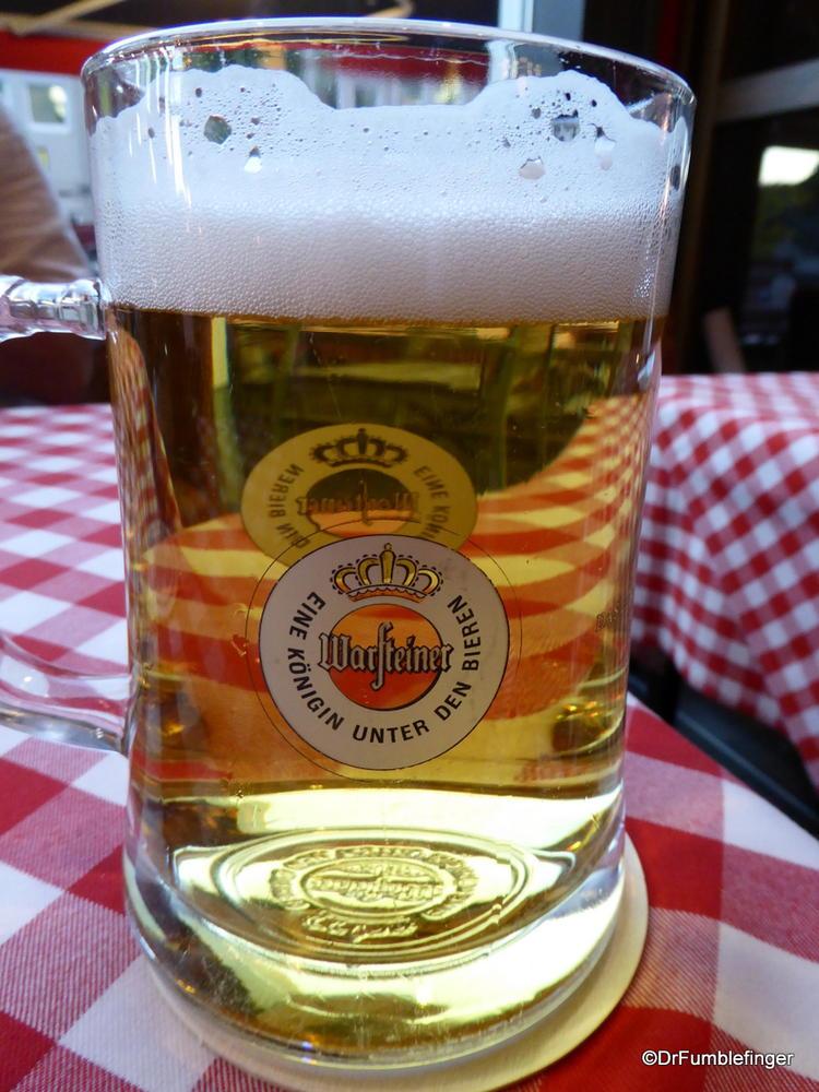 Our more modest half liter glasses, Berlin