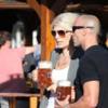 Germans sure enjoy drinking their beer at Oktoberfest.  Believe those are liter tankards