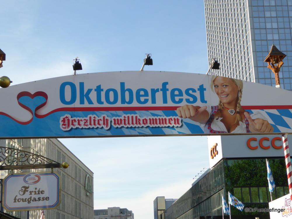 It's Oktoberfest time in Berlin, Germany.  Alexanderplatz Biergarten