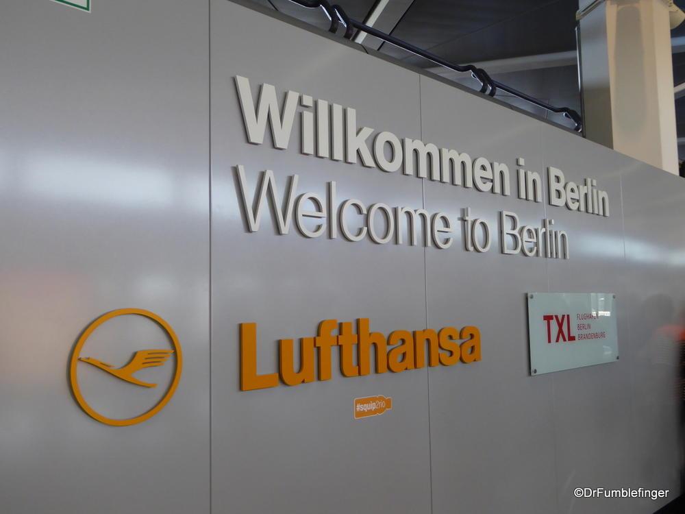 Arrival at Berlin Tegel Airport