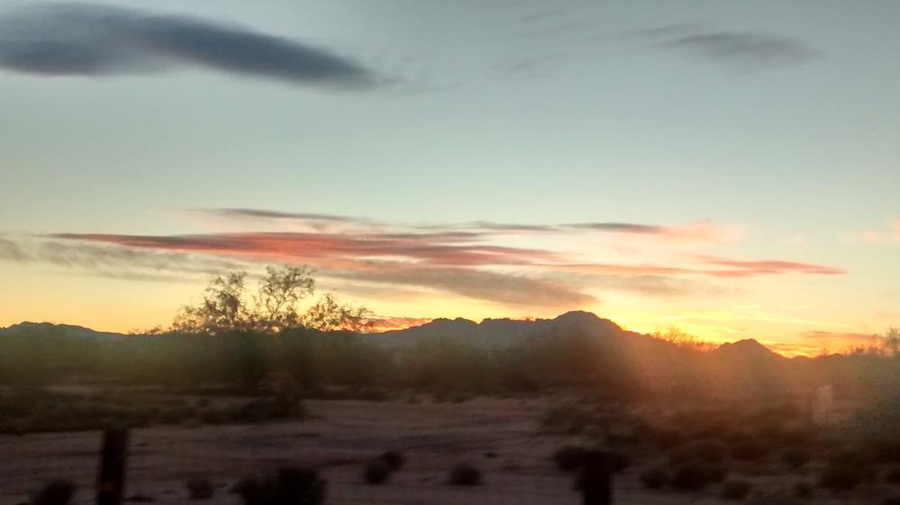 Sunset in the Sonora Desert/Tucson Area