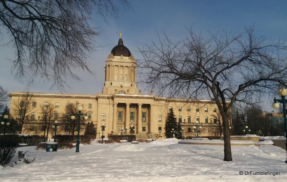 Manitoba Legislative Building on a cold winter day, Winnipeg