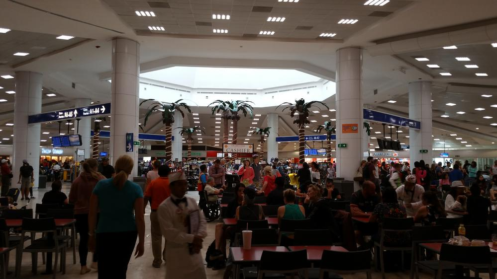 Cancun airport departure lounge